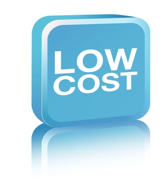 Low Cost Sign - blue
